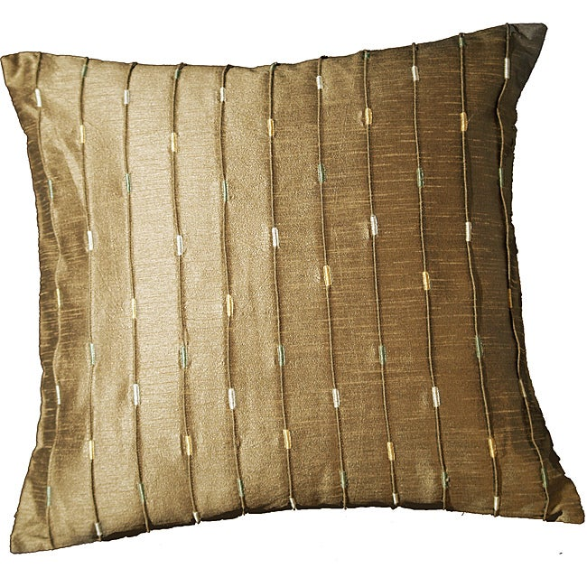 LNR Home Mole Ribbed Neutrina Block 18-inch Pillow