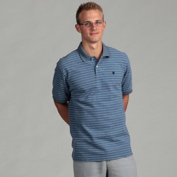 Izod Men's Oxford Pique Feeder Stripe Polo Shirt