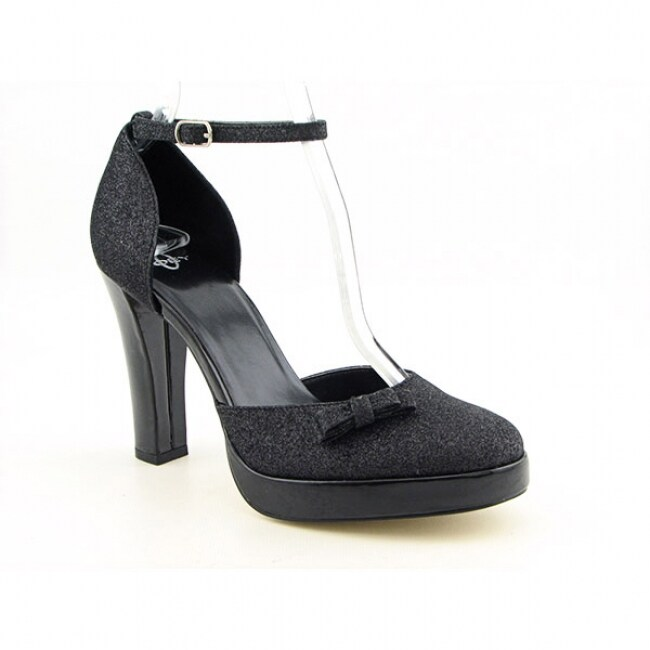 Joey O 'Sone' Womens Black Ankle Strap Shoes