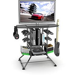 Centipede Black Game Storage and TV Stand