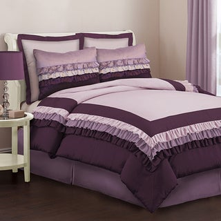 Lush Decor Starlet Purple 4-Piece Full-size Comforter Set