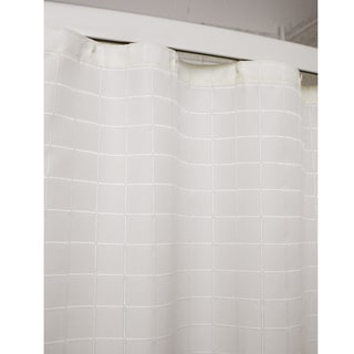 Lineation Ivory Polyester Shower Curtain