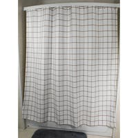 Lincoln Champagne Grid Shower Curtain