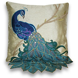 Thro by Marlo Lorenz Fancy Peacock Multicolor 16-inch Faux-silk Accent Throw Pillow
