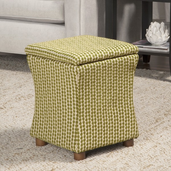 HomePop Geometric Kiwi Cinch Storage Ottoman