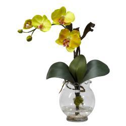 Mini Phalaenopsis w/Fluted Vase Silk Flower Arrangement - Thumbnail 2