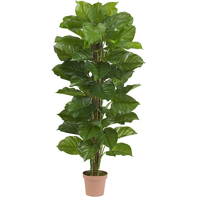 63 In Large Leaf Philodendron Silk Plant Real Touch