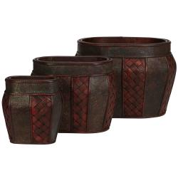 Oval Decorative Planters (Set of 3)
