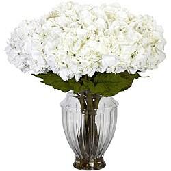 Large White Hydrangea w/European Vase