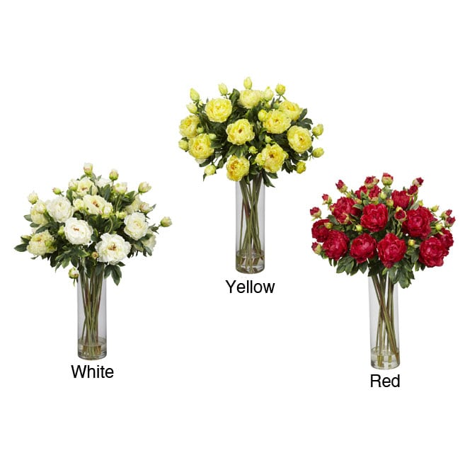 Giant Peony Silk Flower Arrangement