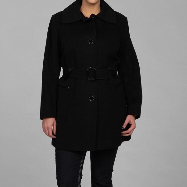 Via Spiga Women's Plus Size Cashmere-blend Wool Coat