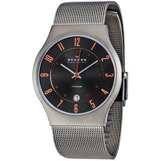 Skagen Men's Grey and Orange Accent Watch