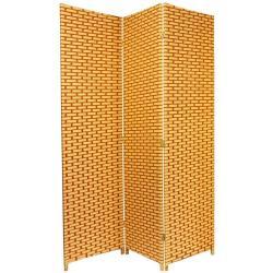6-foot Tall Natural/Rust Woven Fiber Room Divider (China)