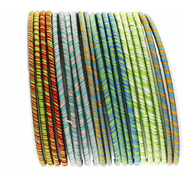 NEXTE Jewelry Striped Fabric Stackable Bracelet Set