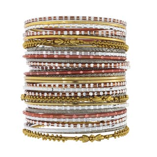 NEXTE Jewelry Stackable Bracelet Set|https://ak1.ostkcdn.com/images/products/6353632/NEXTE-Jewelry-Stackable-Bracelet-Set-P13973643.jpg?impolicy=medium
