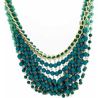 Nexte Jewelry Shades of Green Beaded Bib Necklace