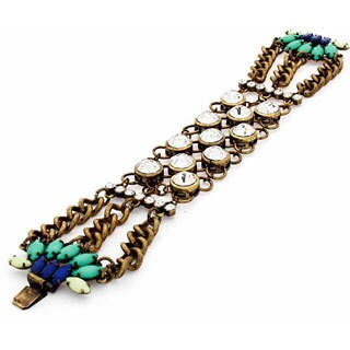 NEXTE Jewelry Antique Goldtone Art Deco Two-in-One Fashion Bracelet