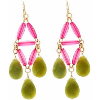 NEXTE Jewelry Genuine Green Jade Dangle Earrings