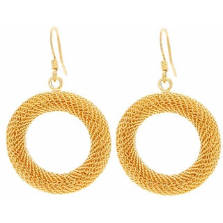 NEXTE Jewelry Goldtone Mesh Circle Dangle Earrings