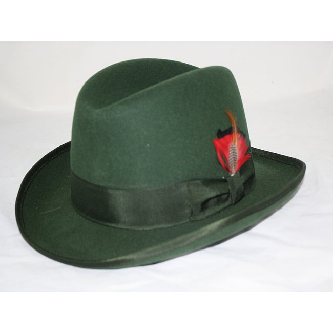 Ferrecci Men S Green Wool Godfather Hat Free Shipping On