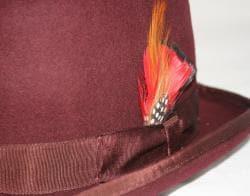 Ferrecci Men's Brown Wool Bowler Hat