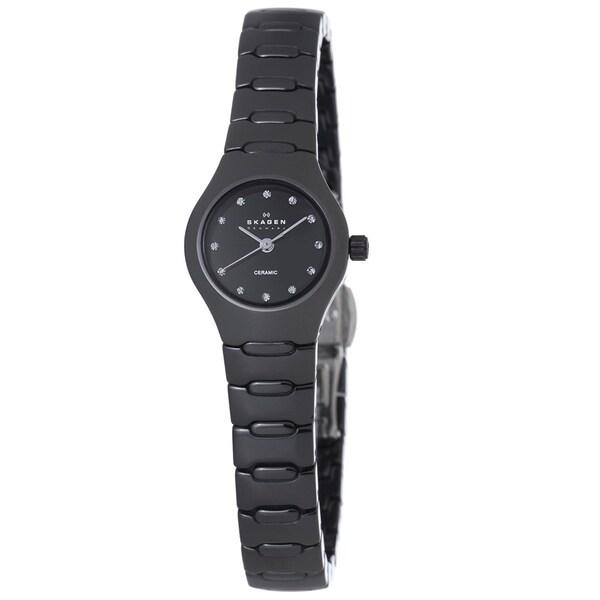 Skagen Women's 816XSBXC1 Ceramic Round Black Bracelet Watch