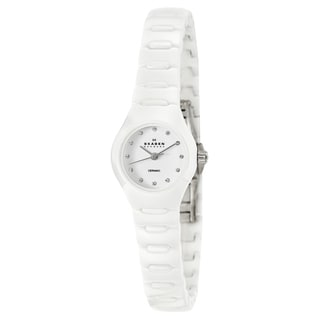 Skagen Women's White Ceramic Crystal Watch
