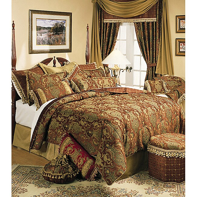 Shop Sherry Kline China Art Brown Queen 6 Piece Comforter