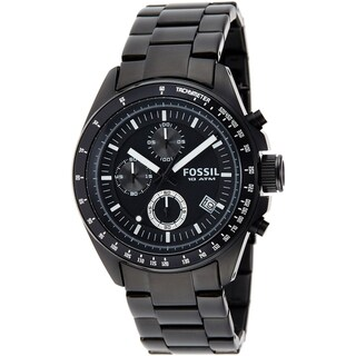 Fossil Men's CH2601 'Decker' Black Steel Chronograph Watch
