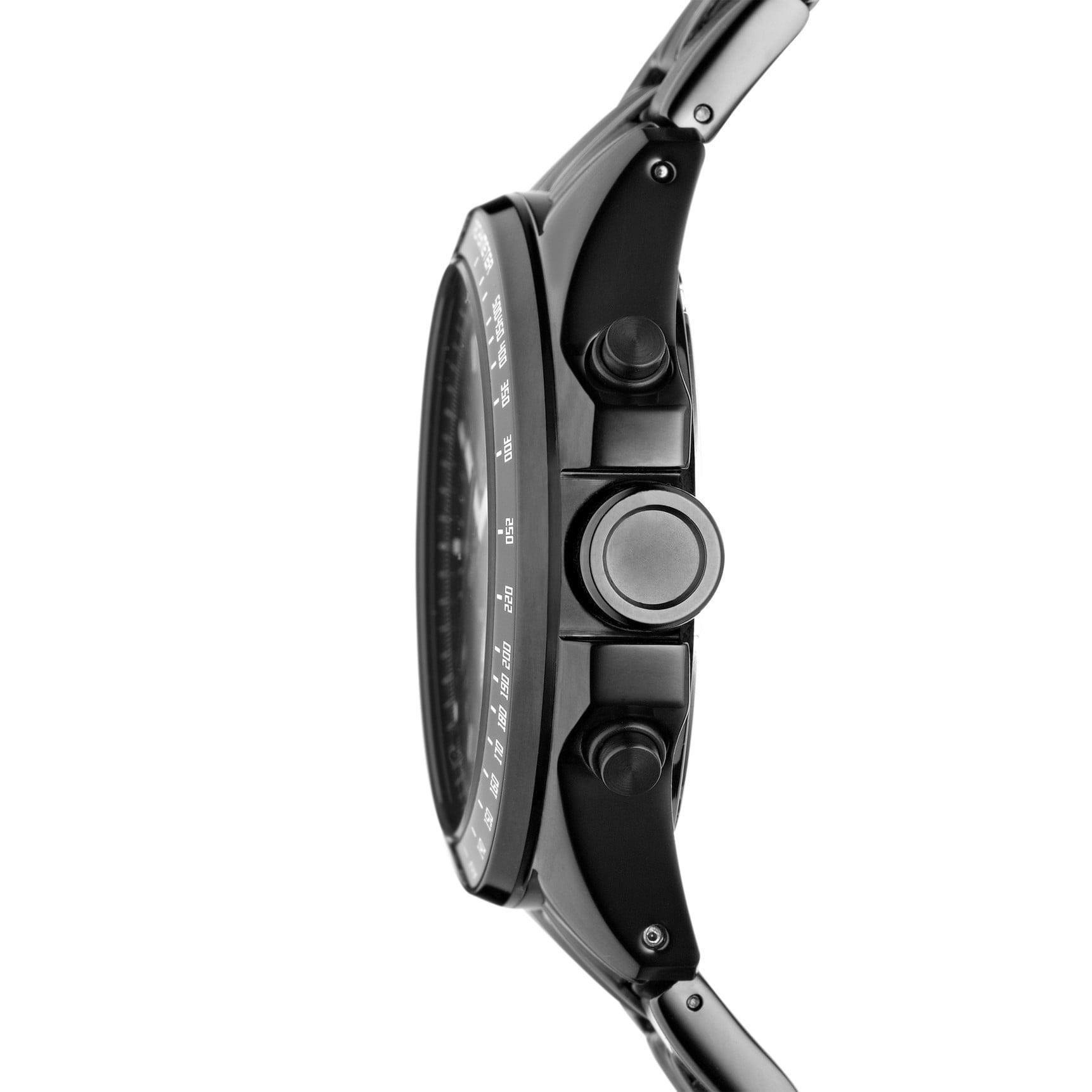 Fossil Men's CH2601 'Decker' Black Steel Chronograph Watc...