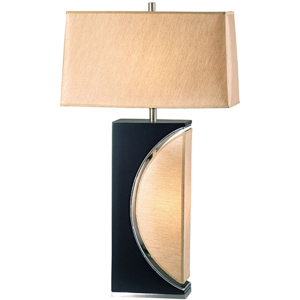 Nova Lighting Wood Poublan Lamp