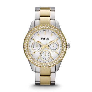 Fossil Women's 'Stella' Two-tone Steel Glitz Watch