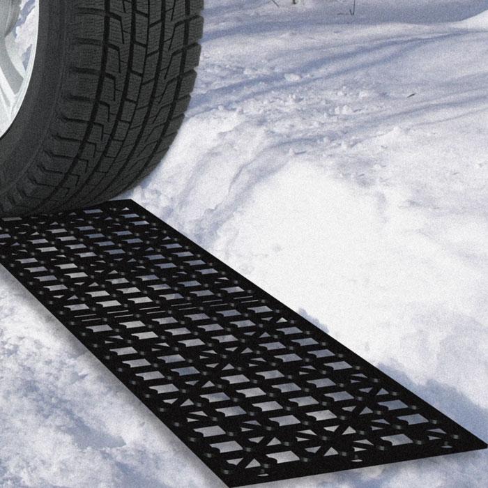 Stalwart Car Tire Snow Grabber Mats (4 Pieces)