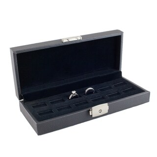 Caddy Bay Collection 12 Wide Slot Jewelry Ring Display Storage Case