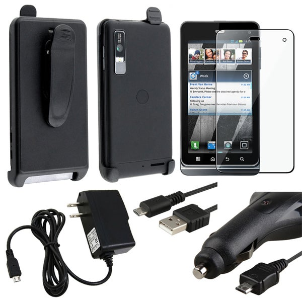 Holster/ Screen Protector/ Chargers/ Cable for Motorola Droid 3 XT862