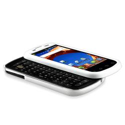 INSTEN White Snap-on Rubber Coated Phone Case Cover for Samsung Epic D700 4G