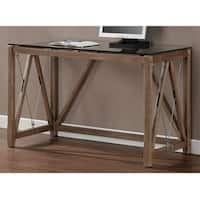 Carbon Loft Glass Top Cable Desk