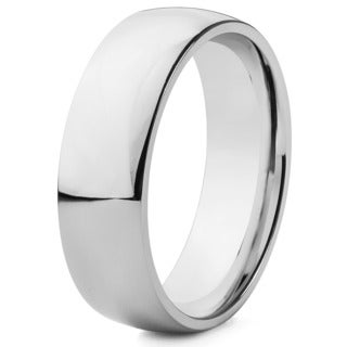 Polished Stainless Steel 7mm Ring