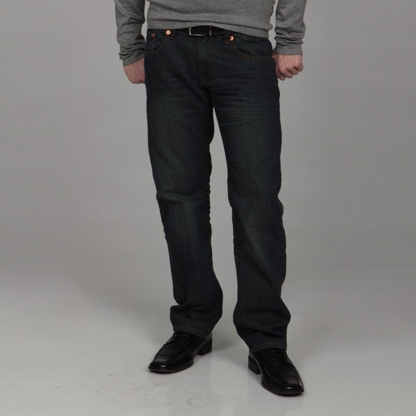 Seven Oaks Men's Kindle Straight Leg Denim Jeans