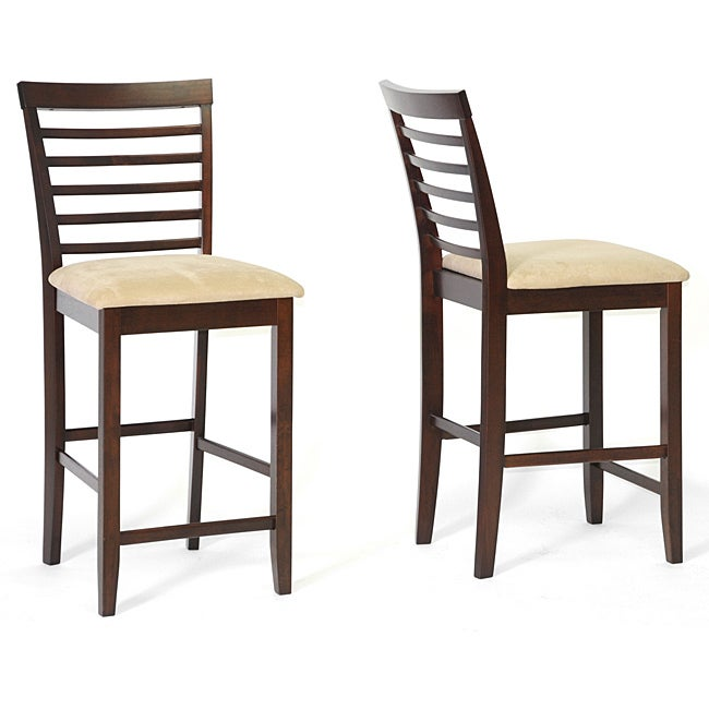 Baxton Studio Kelsey Counter Height Wood Stools (Set of 2) - Free ...