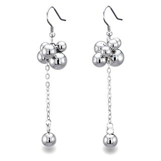 Stainless Steel Bauble Hanging Earrings