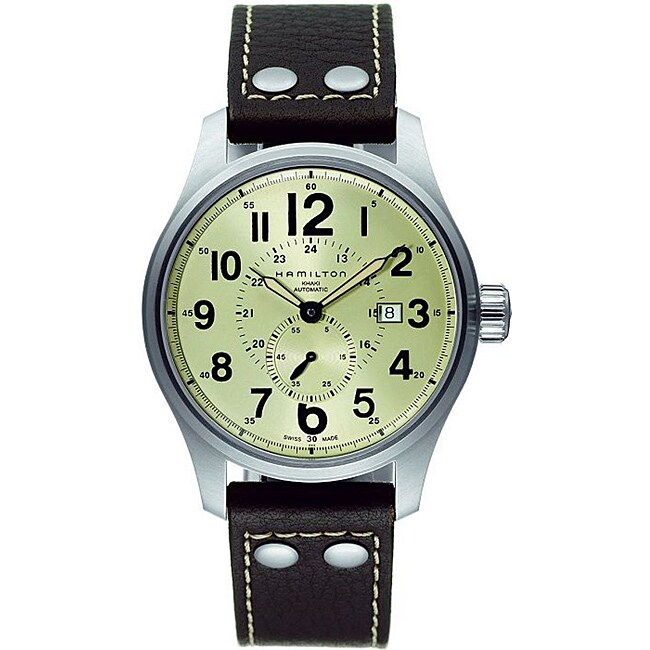 Hamilton Men's Khaki Field Officer Yellow Dial Watch