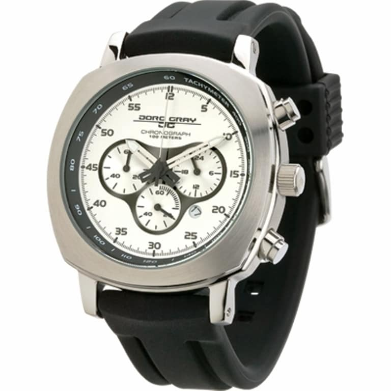 Jorg Gray Men's Quartz Chronograph Silvertone Dial Watch