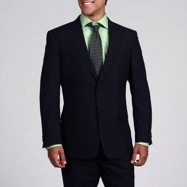 Tommy Hilfiger Men's Trim Fit Navy Pinstripe 2-button Wool Suit