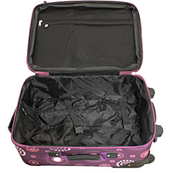 Rockland Deluxe Purple Pearl 2-piece Lightweight Expandable Carry-on Luggage Set
