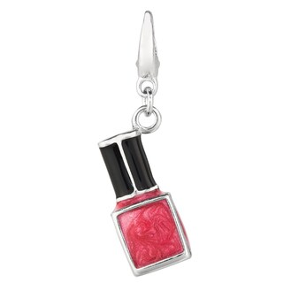 High-polish Sterling Silver Clip-on Fashion Nail Polish Charm