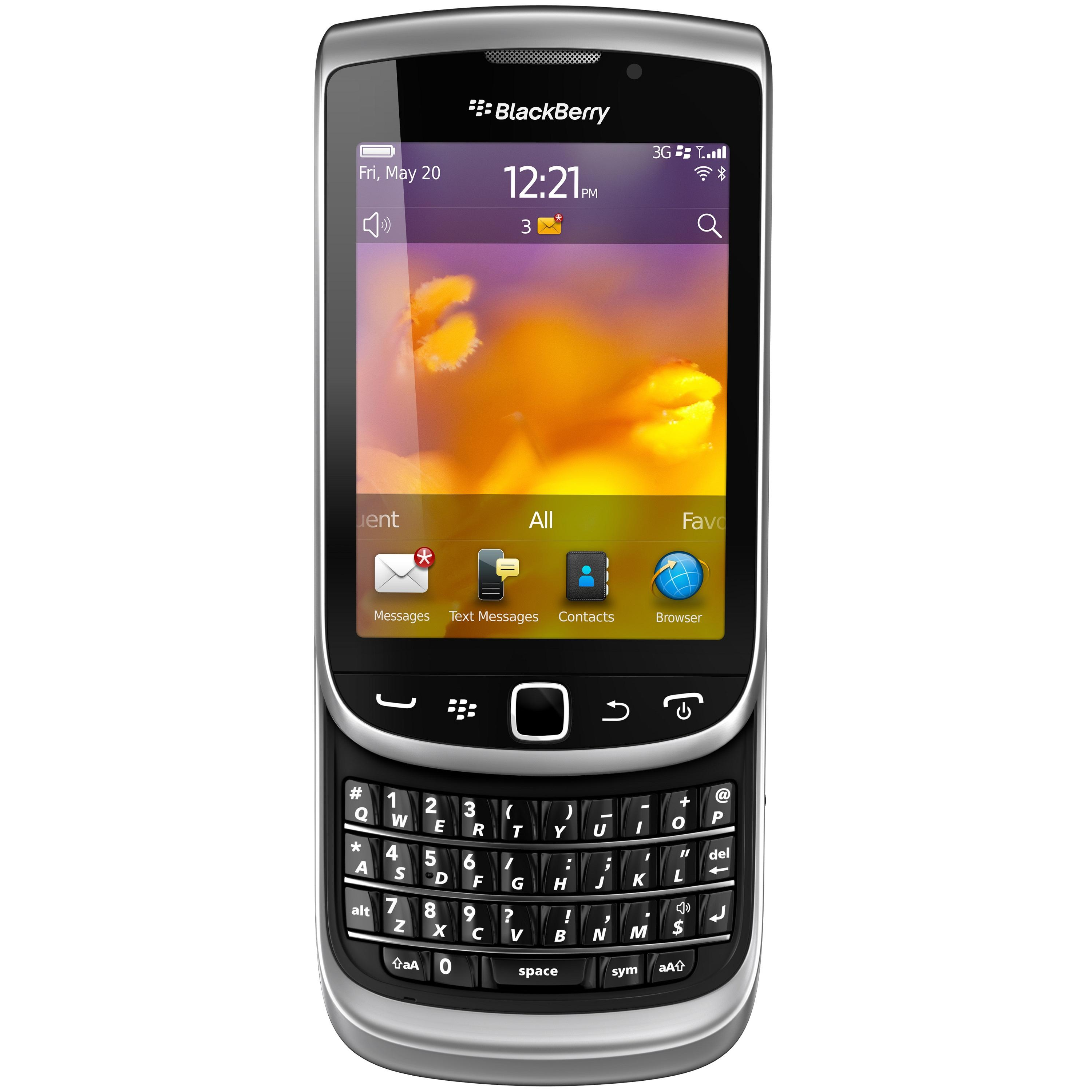 Blackberry Torch 9810 Unlocked GSM HSPA+ OS 7.0 Slider Phone - Zinc Grey - Thumbnail 0