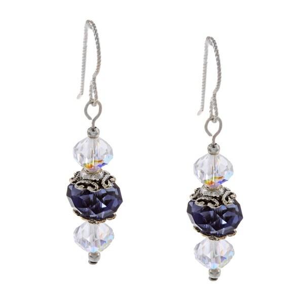 MSDjCASANOVA Iolite Crystal Earrings