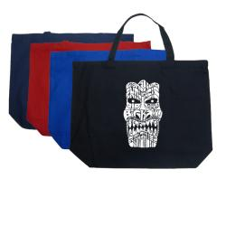 LA Pop Art Cotton Tiki Shopping Tote