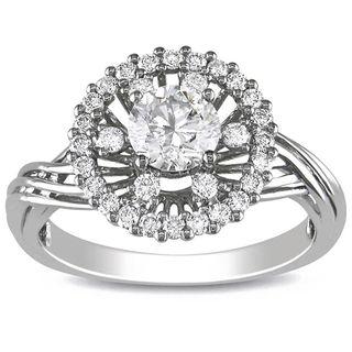 Miadora 18k White Gold 1ct TDW White Diamond Ring